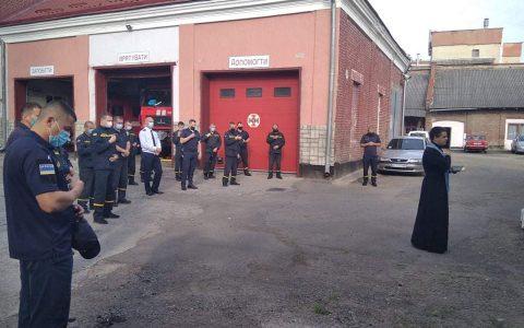 Капелан привітав стрийських рятувальників з професійним святом