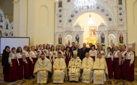 Владика Богдан привітав хор парафії святих Петра і Павла у Стрию з 30-літтям